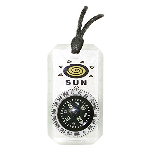 MiniComp II - Mini Orienteering Compass with Rotating Bezel  Easy-to-Read Zipperpull Compass for Jacket, Parka, or Pack by Sun Company
