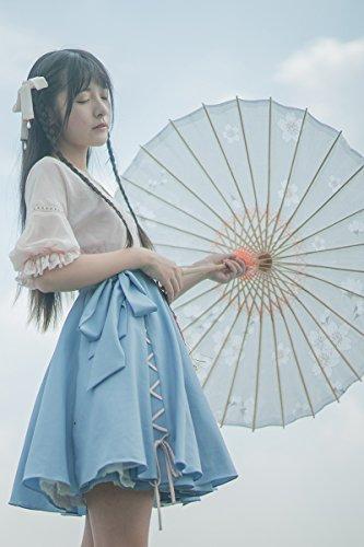 Generic Xu_Jiao_same_paragraph_hanfu_elements_ Chinese _finish up_ retro small _fresh_literary_ lady _two-piece_ dress temperament