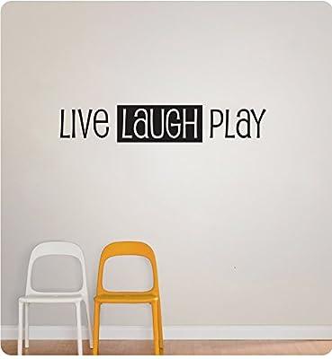 "46"" Live Laugh Play Kids Children Child Room Fun Games School Recess Wall Decal Sticker Art Mural Home Décor Quote"