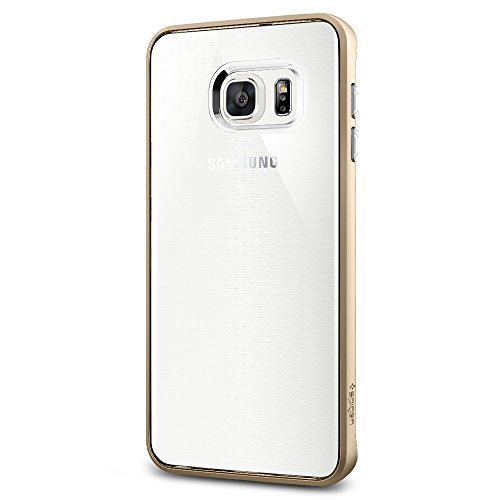 Spigen Neo Hybrid Crystal Galaxy S6 Edge Plus Case with Flexible Inner Casing and Reinforced Hard Bumper Frame for Galaxy S6 Edge Plus 2015 - Champagne Gold