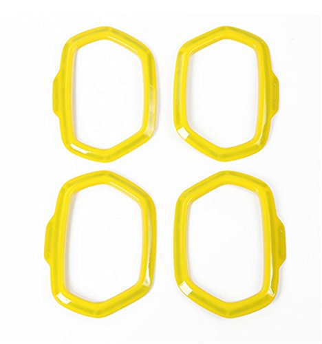 Dwindish Yellow ABS Interior Car Door Sound Speaker Audio Ring Cover Trim for Jeep Renegade 2015-2017 by Dwindish (Image #1)
