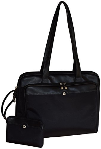 Wenger SwissGear Rhea Women's 15.4 Inch Laptop Business Organizer Tote - Black