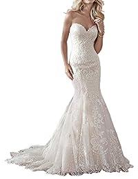 MILANO BRIDE Affordable Bridal Wedding Dress Mermaid Strapless Floral Applique
