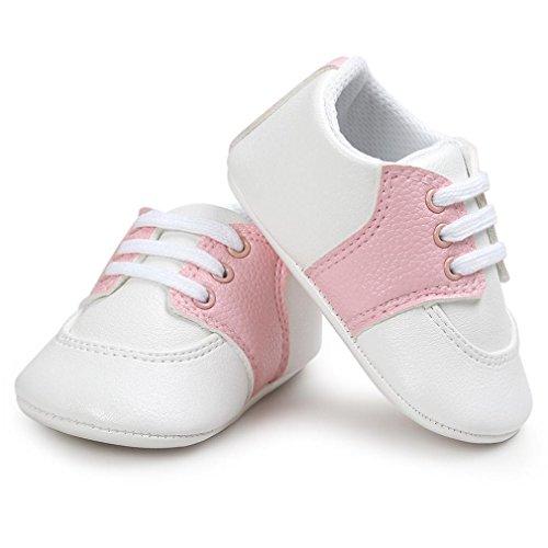 Zapatos de bebé, Switchali Recién nacido bebe niña primeros pasos verano Niño Cuna Suela blanda Antideslizante Zapatillas niñas vestir casual Calzado de deportes Rosado