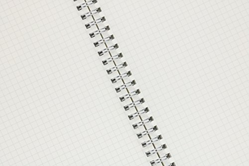 Miliko Transparent Hardcover B5 Square Grid Wirebound/Spiral Notebook/Journal Set-2 Per Pack, 7.1''x10''(Square Grid) by MILIKO (Image #2)