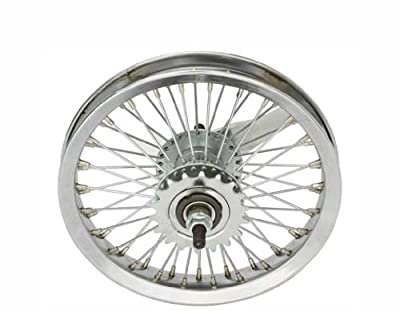 "12"" 52 Spoke Coaster Wheel 14G Chrome. Bicycle wheel, bike wheel, bike part, bicycle part"