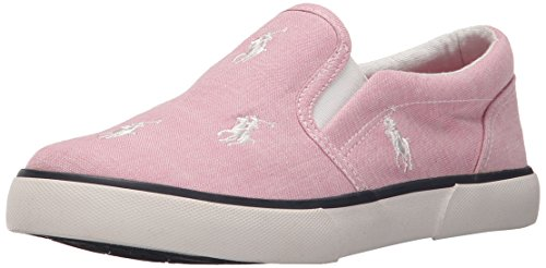 Polo Ralph Lauren Kids Bal Harbour Fashion Sneaker (Toddler/Little Kid), Pink/White, 5 M US - Cyber Lauren Monday Ralph