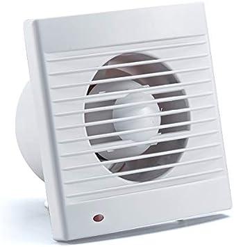 Ventilador extractor de baño 15W aire 158X88X158H mm Silencioso con válvula Anti retorno + mosquitera integrada, 180 m3/h,Ideal para baño cocina inodoro oficina