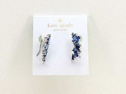 buy good on feet at designer fashion Amazon.com: Kate Spade New York Cluster Crawler Earrings Blue ...