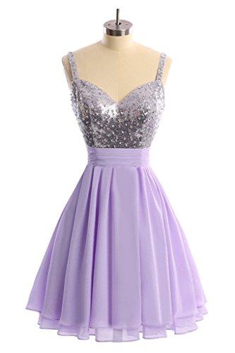 Chiffon Lilac Dress Angel New Prom Dress A 2016 Homecoming Spaghetti Line Short Bride TqwHtqa