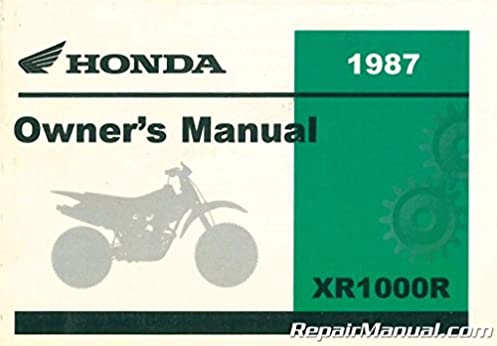 31kn4620 1987 honda xr100r motorcycle owners manual manufacturer rh amazon com 2002 honda xr100r owners manual 2003 honda xr100r owners manual