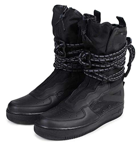 Mid High Flat Boot - Nike SF Air Force 1 High Men's Shoes Black/Grey aa1128-002 (12.5 D(M) US)