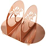 "Creative Home 50247 Copper Plated Metal Napkin Holder 8"" x 5-3/8"" x 5-5/8"""