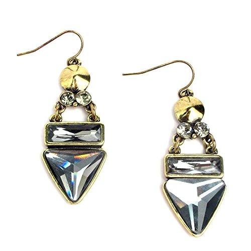 Drop Earrings, Vintage Style Dangle Statement Earrings, Antique Gold Tone, Gifts for Women Girls (FRANCES DROP (Metallic Copper Fairy Costume)