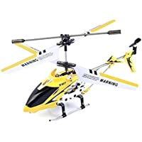 Safeplus S107G 3 Channel Infrared Remote Control Helicopter Flying Toy Built-in Gyroscope (Yellow)