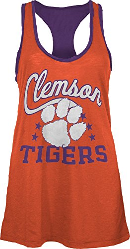 NCAA Clemson Tigers Nelly Tank, Large, Orange