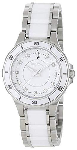- Bulova Women's 98P124 Substantial Ceramic & Stainless Steel Watch