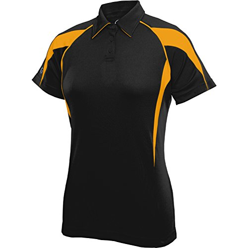Gtm Sportswear Womens Paramount Plus Polo X Large Black Gold