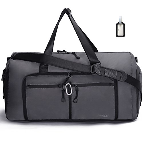 Travel duffel bag ,50L Foldable weekend tote bag Lightweight gym bag VONXURY