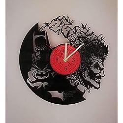 Dark Knight vs Joker 12 inches Vinyl Record Design Wall Clock - Batman Movie Characters - Get unique home room wall decor - Gift ideas for parents, teens - Epic Movie Unique Modern Art ...