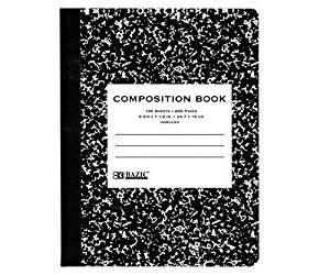 BAZIC UNRULED 100 Ct. Black Marble Composition Book Case Pack 48