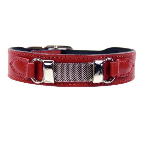 hartman-rose-barclay-dog-collar-14-to-16-inch-ferrari-red