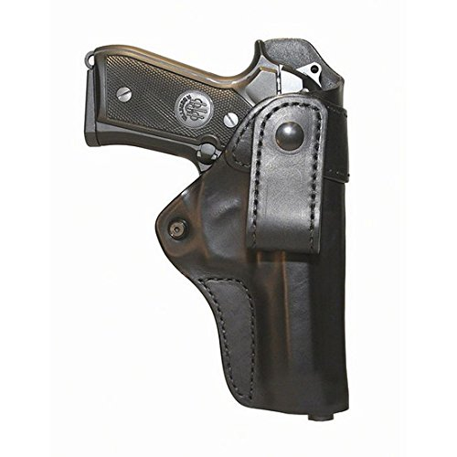BLACKHAWK! Leather Inside-the-Pants Black Holster, Size 02, Right Hand, (Colt Comm 4in RHnd Blk) ()