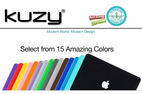Kuzy - Older Version MacBook Pro 13.3 inch Case (Release 2015-2012) Rubberized Hard Cover for Model A1502 / A1425 with Retina Display Shell Plastic - BLACK by Kuzy (Image #7)