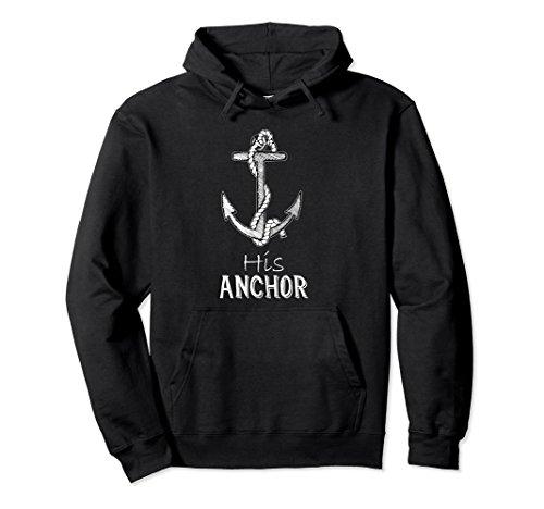 Unisex Valentine's Day Hoodie Matching Couple Hoodies His Anchor 2XL Black (Name Valentine Sweatshirt)
