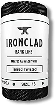 Ironclad Supply Tarred Bank Line – Heavy Duty 100% Nylon Twine for Fishing, Hunting, Camping, Bushcraft – Odor