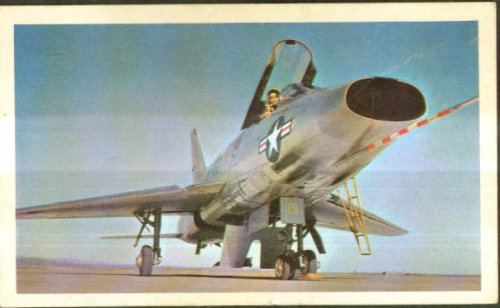 North American F-100 Super Sabre trading card by The Jumping Frog