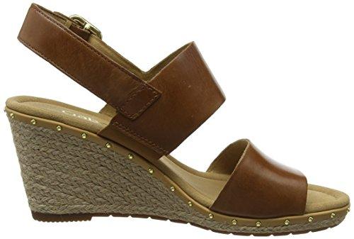 Pulsera para Comfort Sandalia con Shoes Nieten Mujer Peanut Marrón Sport Gabor wXqxOUY