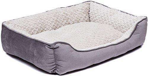 (Murphy&Roxy Creative Pet Group Medium Dog Bed Fedora/Beige Soft Plush, 24 x 18)