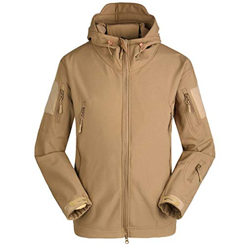 Waterproof Men Jacket Windbreaker Clothes Winter Coat Jacket Soft Shell Jackets Khaki MCYs x6XAq4wX