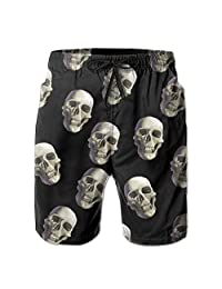 OutdoorMatter Shorts Skull Mens Tree Quick Dry Swim Trunks Beach Shorts with Mesh Lining
