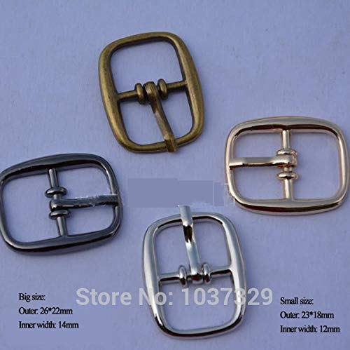 Buckes - Wholesale 50pcs/lot 12mm 14mm Metal Shoe Buckle Belt pin Buckle Metal zinc Alloy Nickle/Black/Bronze/Gold BK-001 - (Size: 12mm Mixed Colors) from Lysee
