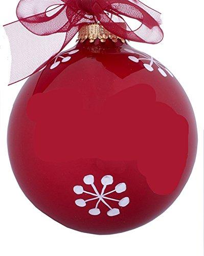 - 07 July Ruby Birthstone Ball Christmas Ornament