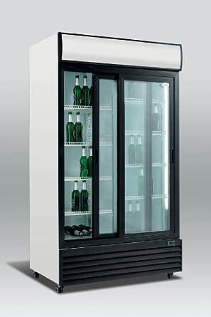 Commercial Double Glass Sliding Door Fridge Upright Bottle Cooler Sd