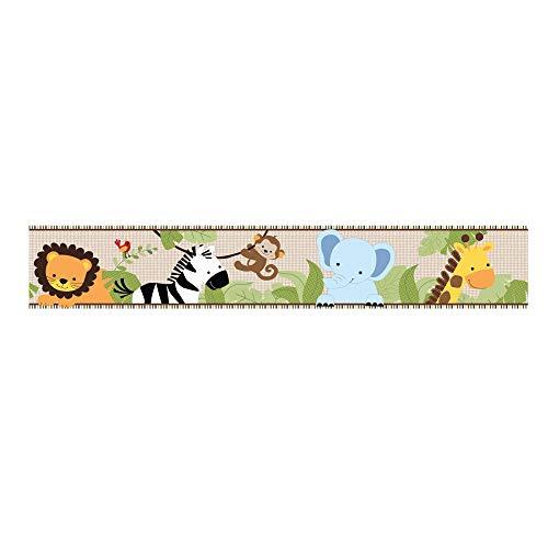 (Bedtime Originals Jungle Buddies Wallpaper Border, Brown/Yellow)