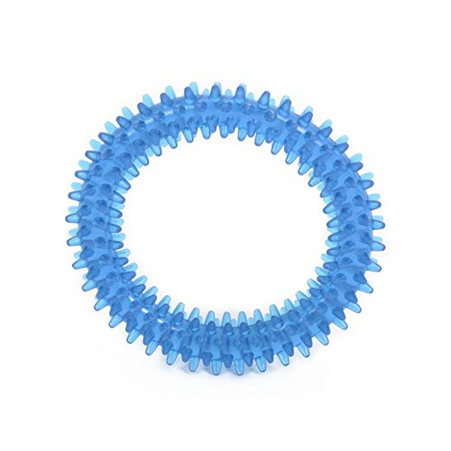 The Original Puppy Teething Dental Ring Dog Chew Toy (Ring Toy Leather)