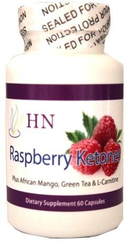 Nutritions de santé framboise fraîche cétones 500 mg, Ultra Poids Supplément de perte, avec mangue africaine, le thé vert et la L-carnitine, 60 capsules