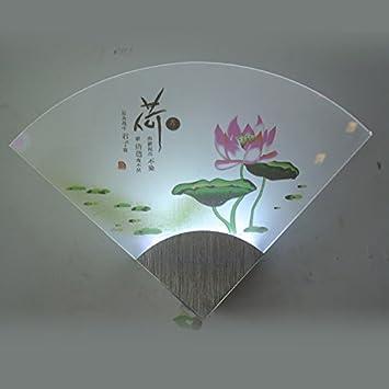 AMZH LED Acryl Wandleuchte Moderne, Einfache Neue Lüfter Wandleuchte  Schlafzimmer Bett