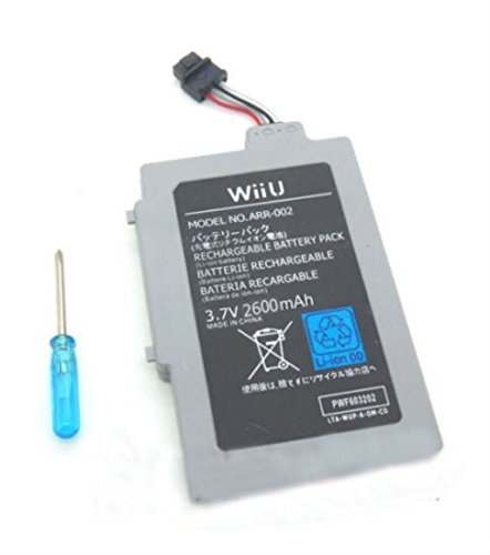 Extended Battery Pack for Nintendo Wii U Gamepad 2600mAh 3.7V Rechargeable Video Game Accessories, Batteries