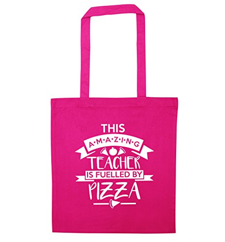 Creative This Flox Teacher Fuelled by Tote Pizza Pink Amazing Bag OAHPq