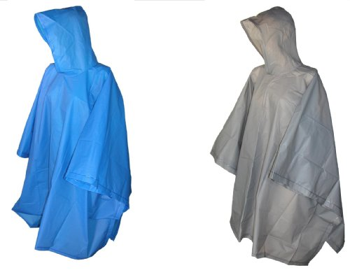 totes ISOTONER Unisex Hooded Pullover Rain Poncho with Side