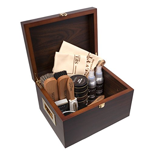 Selvyt Men's Walnut Veneer Shoecare Valet Box One Size Multicolor by Selvyt (Image #2)