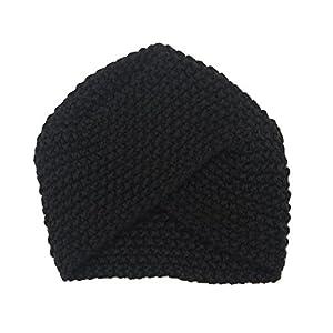 Century Star Women's Warm Knit Turban Cross Twist Arab Hair Wrap Hat Cap Beanie