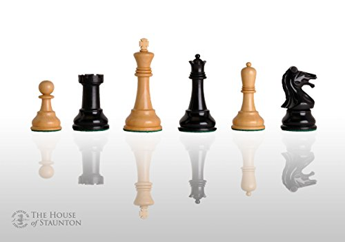Ebonized Chess (The House of Staunton - Reproduction of The Drueke Players Choice Chess Set - Pieces Only - 3.75