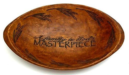Wood Look Decorative Oval Bowl 'God's Masterpiece'