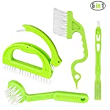 5 in 1 Joint Brush Set Tile Grout Cleaner, Portable Deep Cleaning Scrubber with Nylon Bristles, Window Track Sliding Door Kitchen Groove Bathroom Appliances Floors and Other Household Cleaning Tools